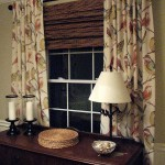 Bamboo Roman Shades with Privacy Liner