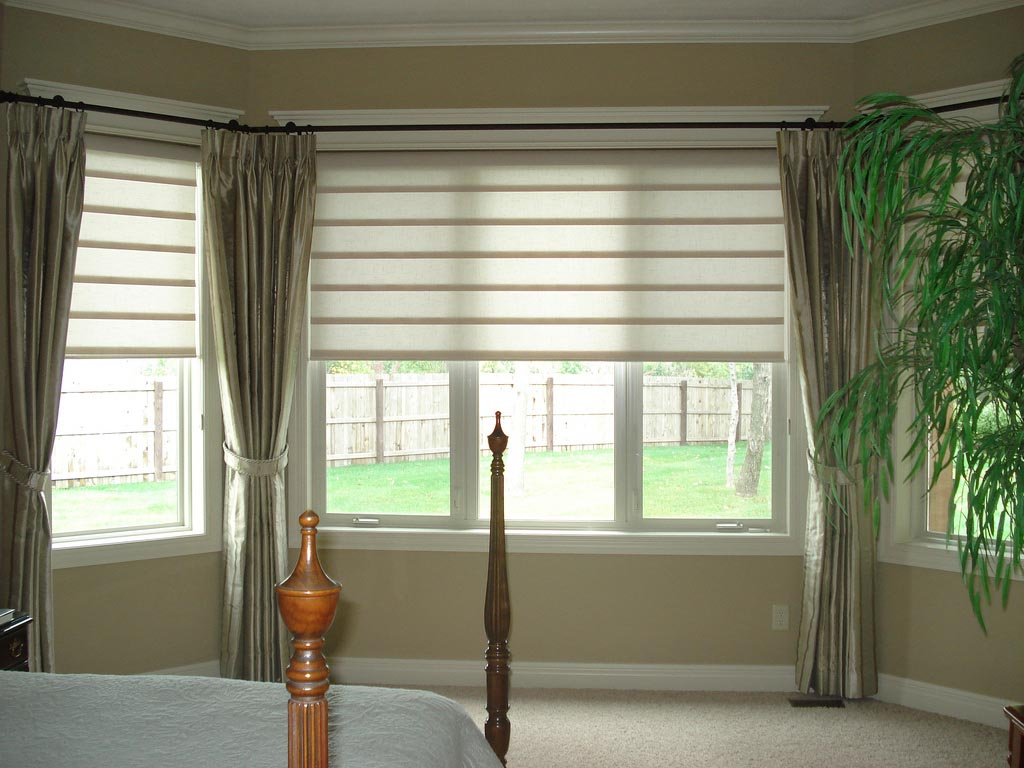Bay window blind ideas window treatments design ideas Window bay ideas
