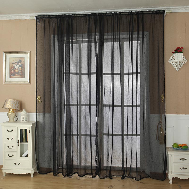 Black Sheer Scarf Valance