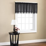 Black Valance for Bedroom