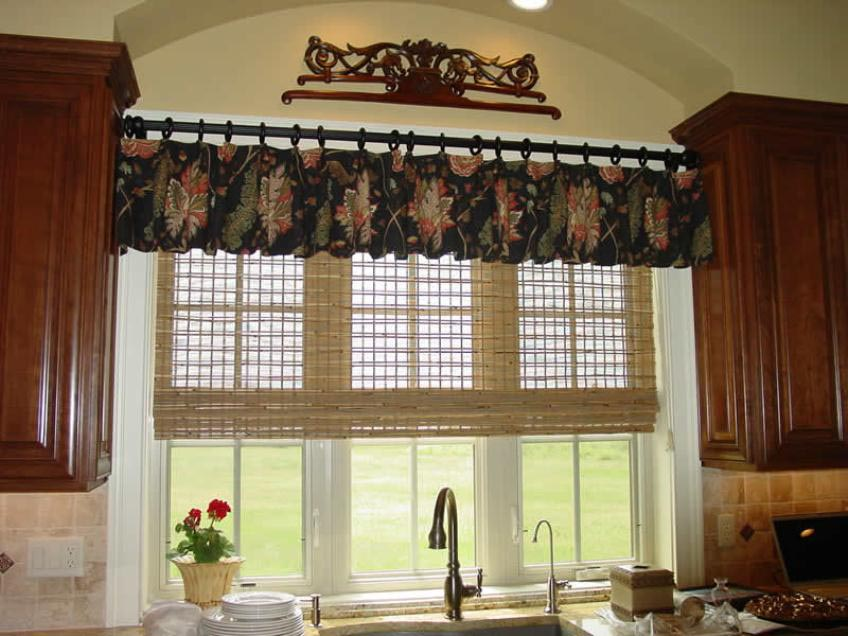 Black Valances for Kitchen