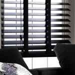 Black Wood Window Blinds