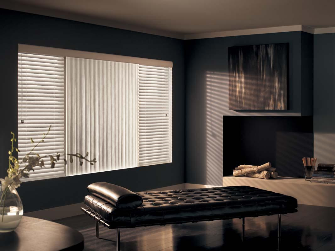 Blinds for large living room windows window treatments - Living room picture window treatments ...