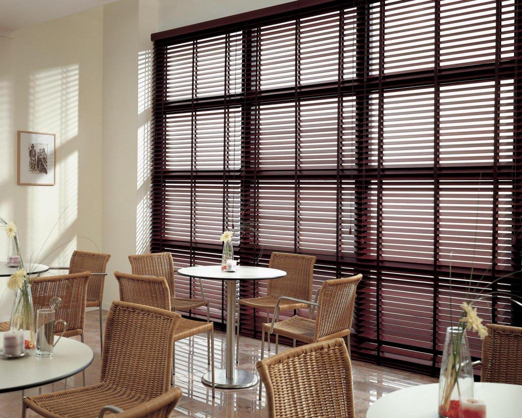 Blinds for large windows ideas window treatments design for Window blinds with designs