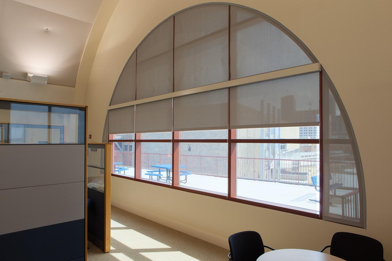 Blinds for windows with arches window treatments design for Window design arch