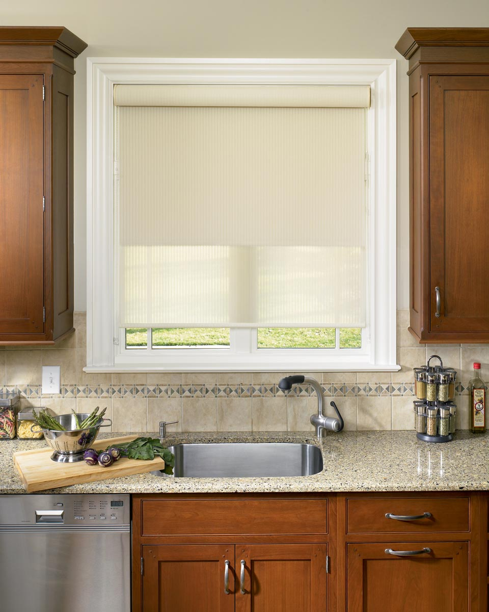 Roller Blinds For Kitchens Blinds In Kitchen Window Window Treatments Design Ideas