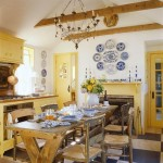 Blue and Yellow French Country Valances