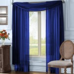 Blue Sheer Scarf Valance