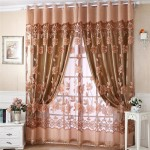 Brown Sheer Scarf Valance