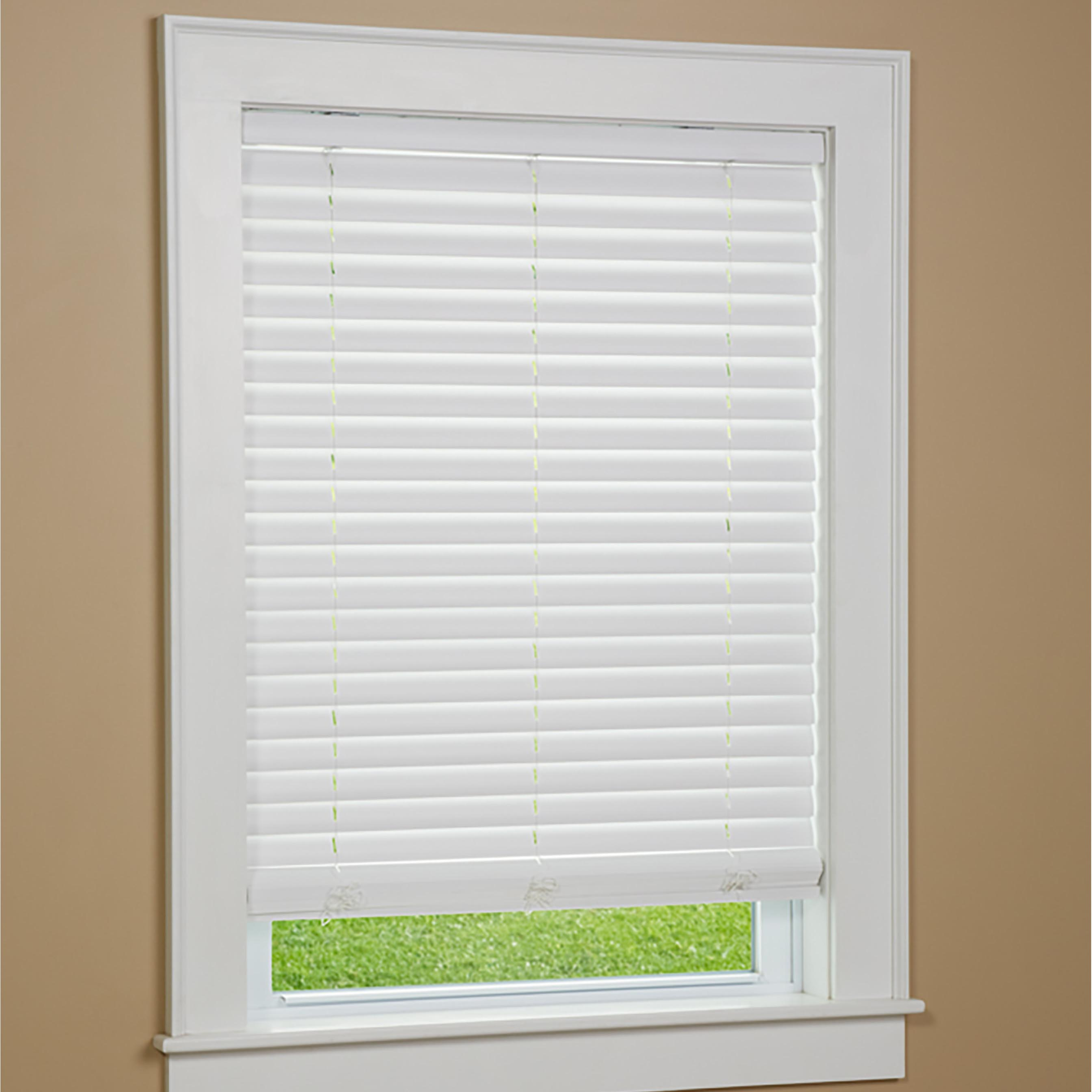 Cordless Faux Wood Window Blinds