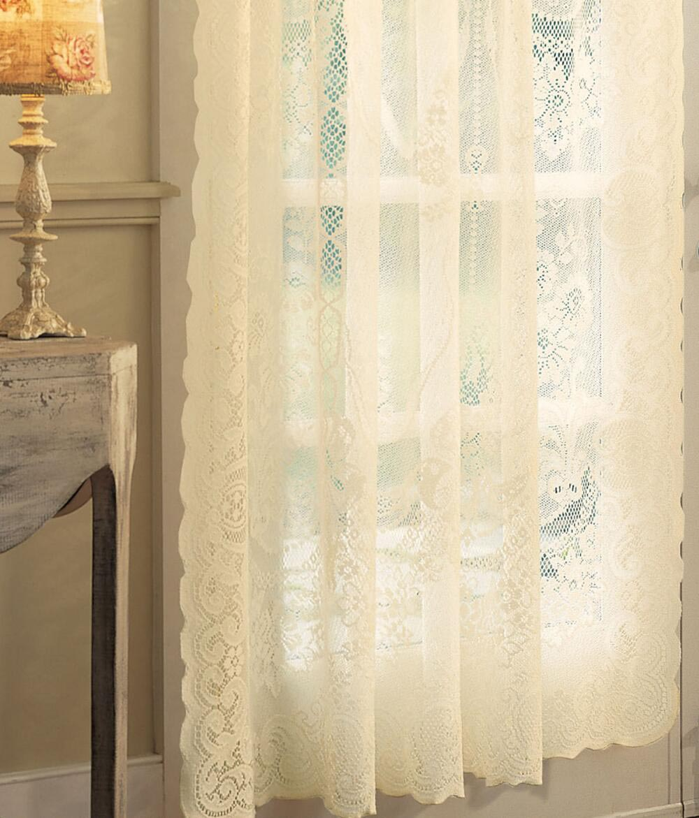 Country curtains lace valance window treatments design ideas for Valance curtains for kitchen