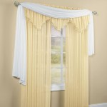 Crushed Voile Sheer Scarf Valance