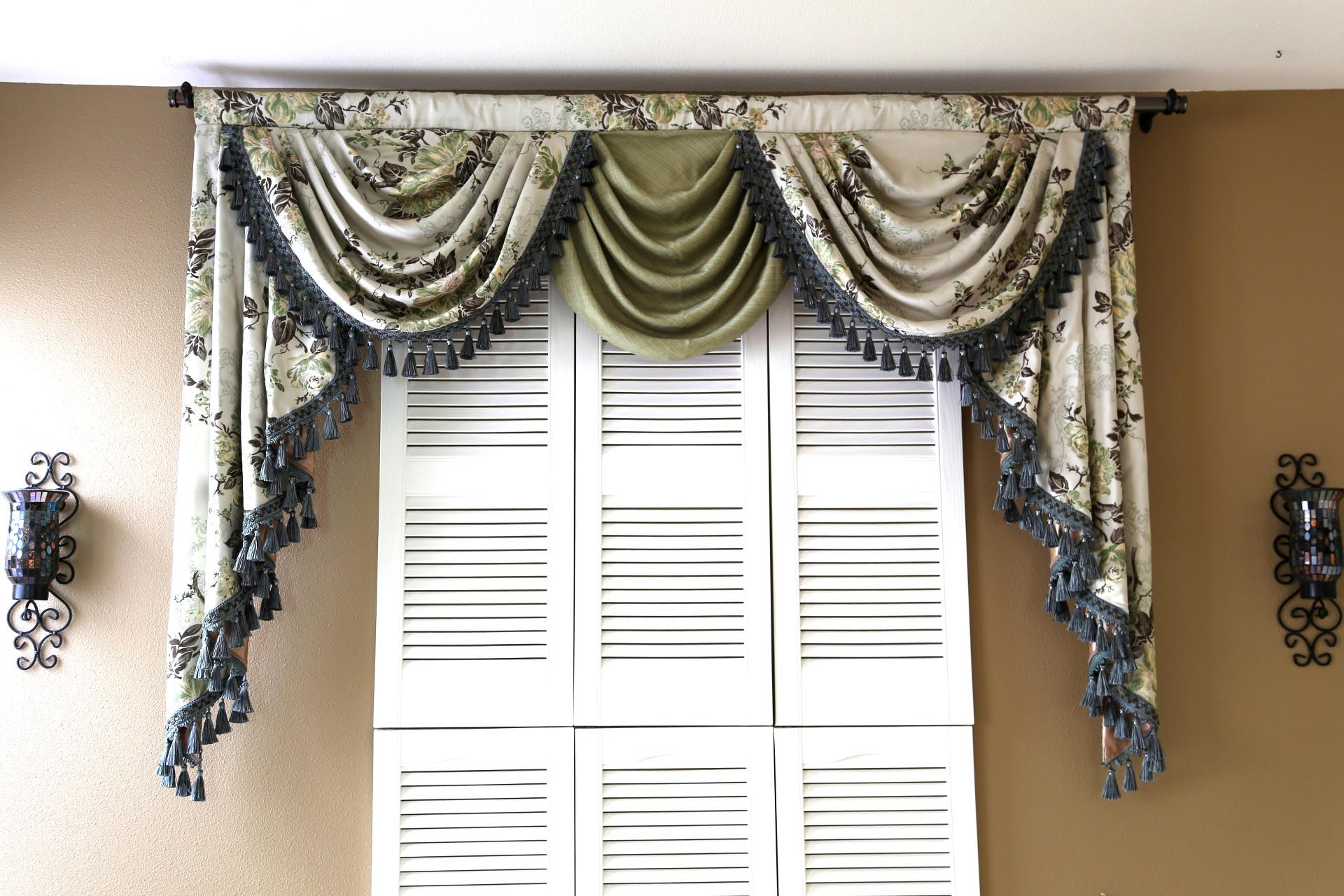 Curtains Valances And Swags Window Treatments Design Ideas
