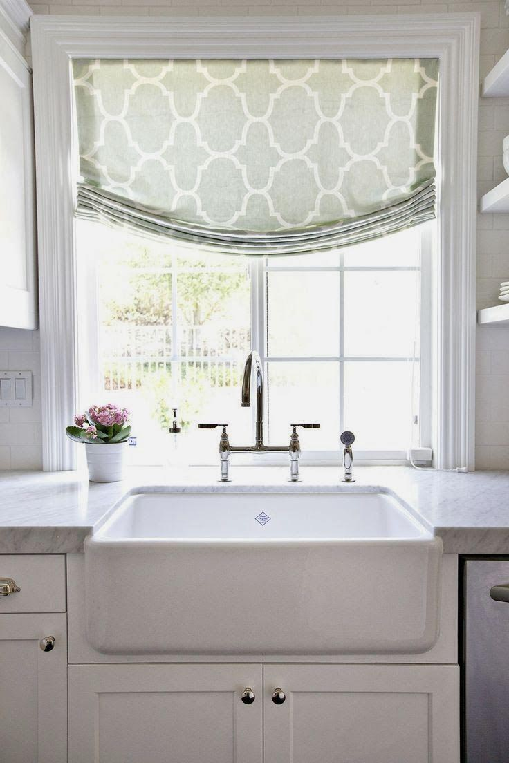 Kitchen Window Treatment Design Ideas ~ Custom kitchen window valance treatments design ideas