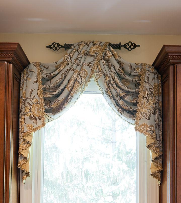 Custom made valance window treatments window treatments for Unique window designs