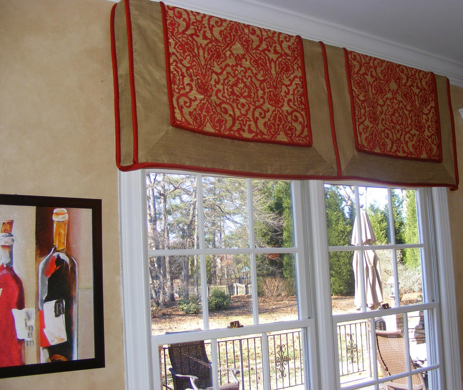 Custom valances window treatments window treatments for Unique window designs