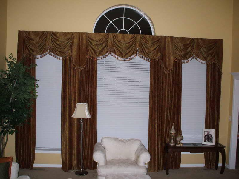 Custom window valances select color according to your for Custom window designs