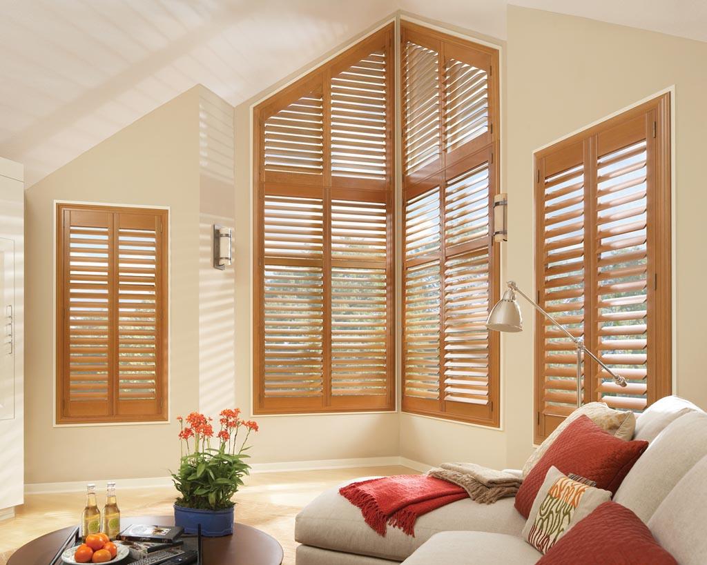 Decorative Wooden Blinds : Custom wood window blinds treatments design ideas