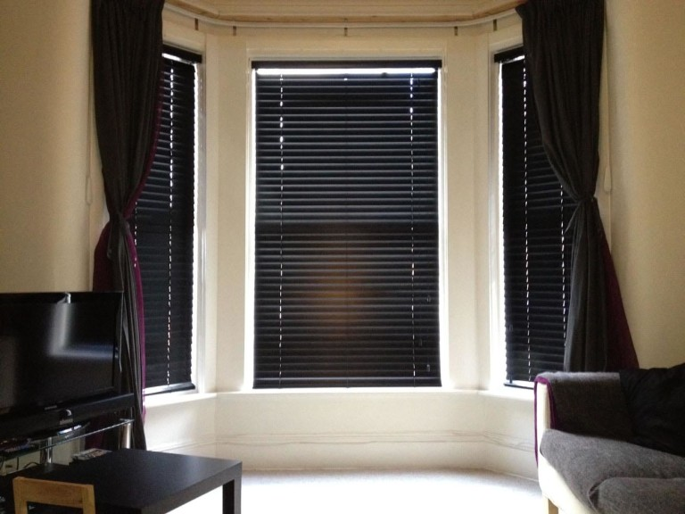 Dark Wood Window Blinds