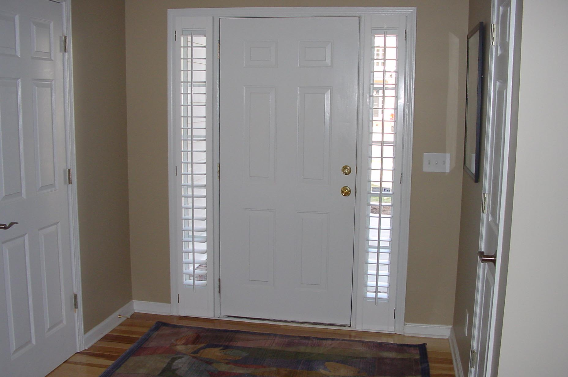 Door window blinds functionality window treatments for Window side design