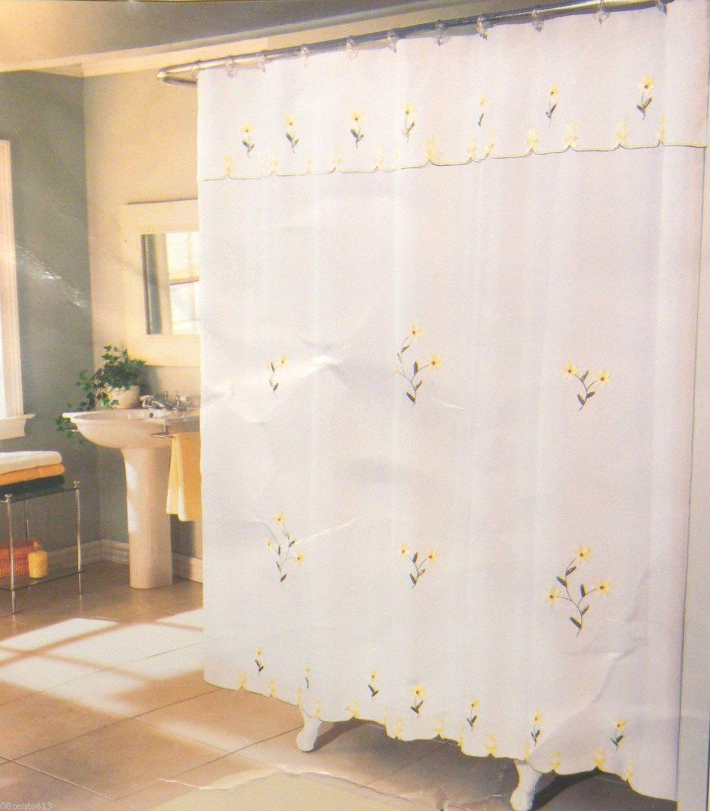 Double Swag Shower Curtain Attached Valance Window