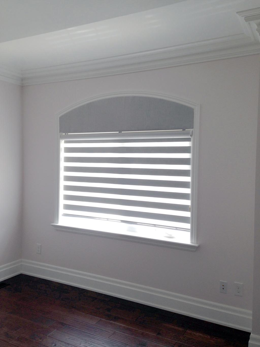 Eyebrow arch window blinds window treatments design ideas for Decor blinds and shades