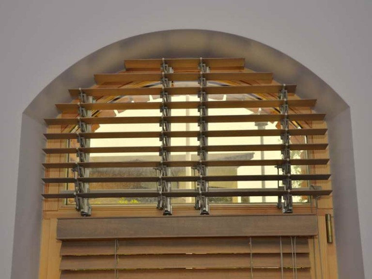 Faux Wood Arch Window Blinds
