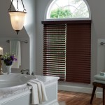 Faux Wood Blinds for Arched Windows