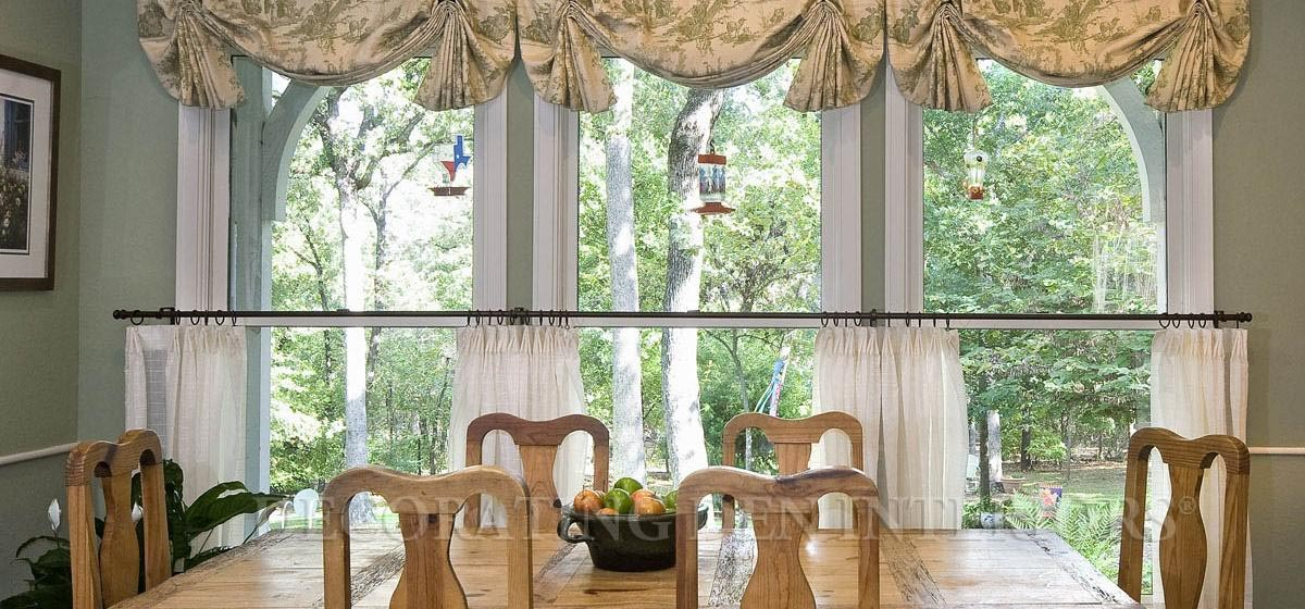 French country toile valance window treatments design ideas - French country kitchen valances ...