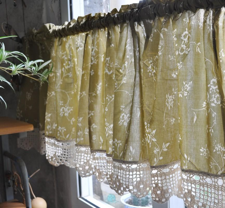French country valance curtains window treatments design ideas - Country kitchen curtain ideas ...