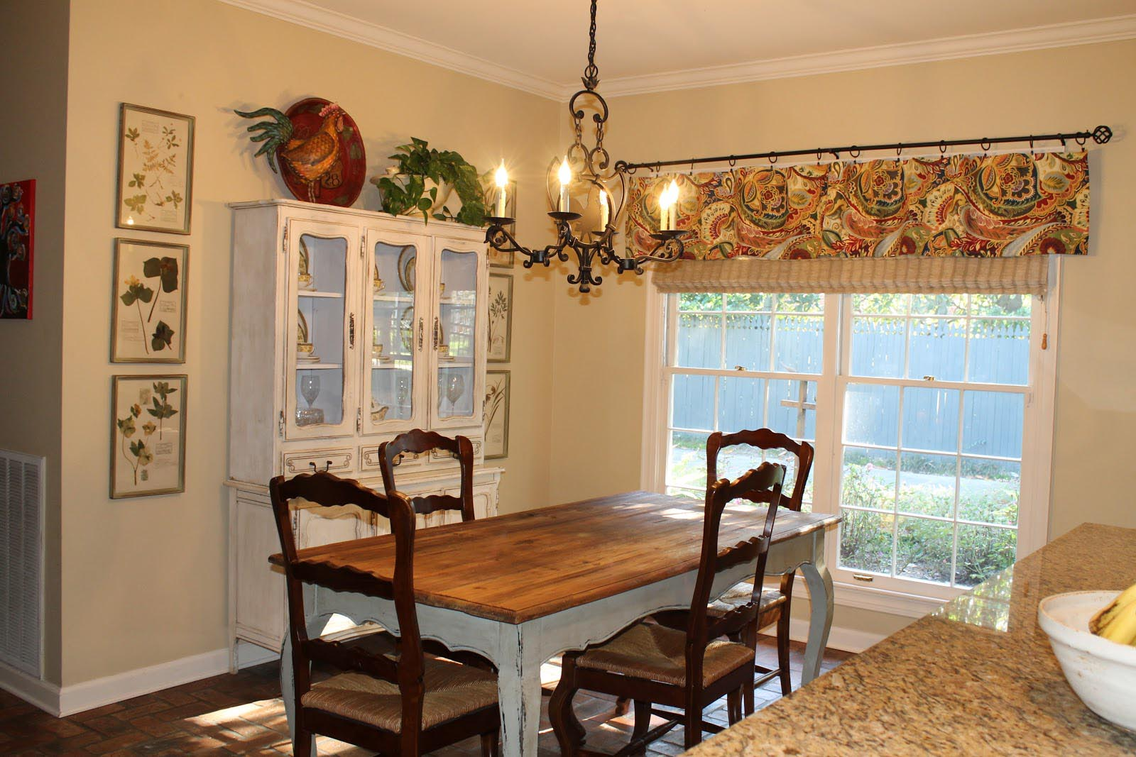 French country valances for kitchen window treatments for Valance curtains for kitchen