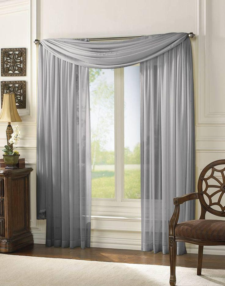 infinity sheer window scarf valance window treatments design ideas