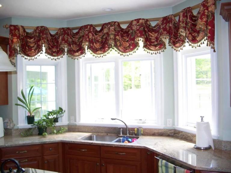 Kitchen Swag Curtains Valance