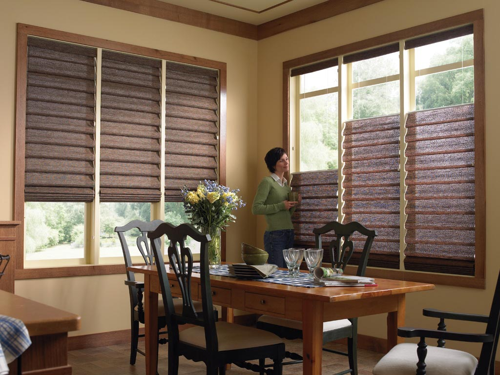 Kitchen window blinds and shades window treatments for Window blinds with designs