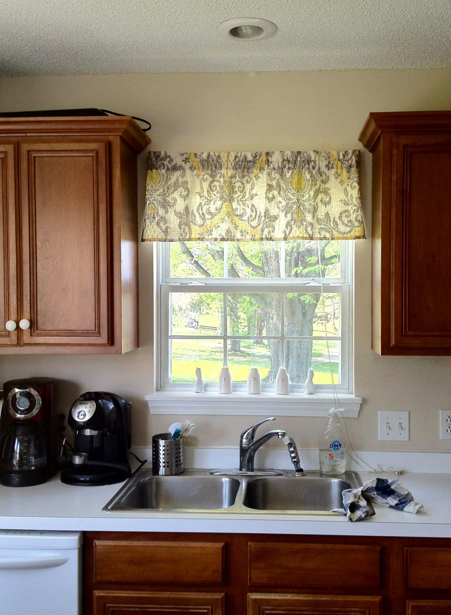 Kitchen window valance ideas window treatments design ideas for Kitchen ideas no window