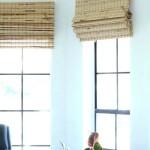 Lined Bamboo Roman Shades