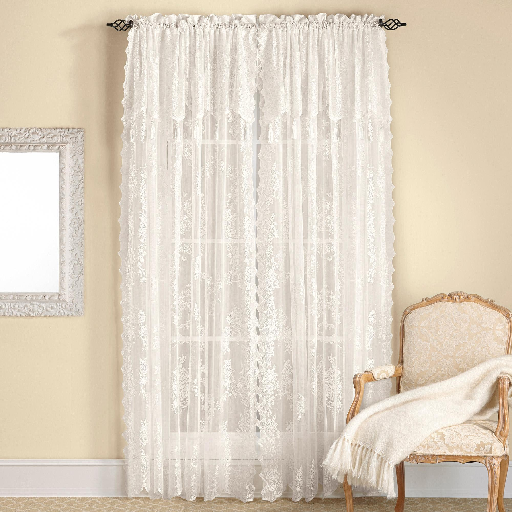 Living room curtains with attached valance window for Living room valances