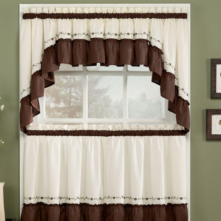 Modern kitchen curtains and valances window treatments for Valance curtains for kitchen