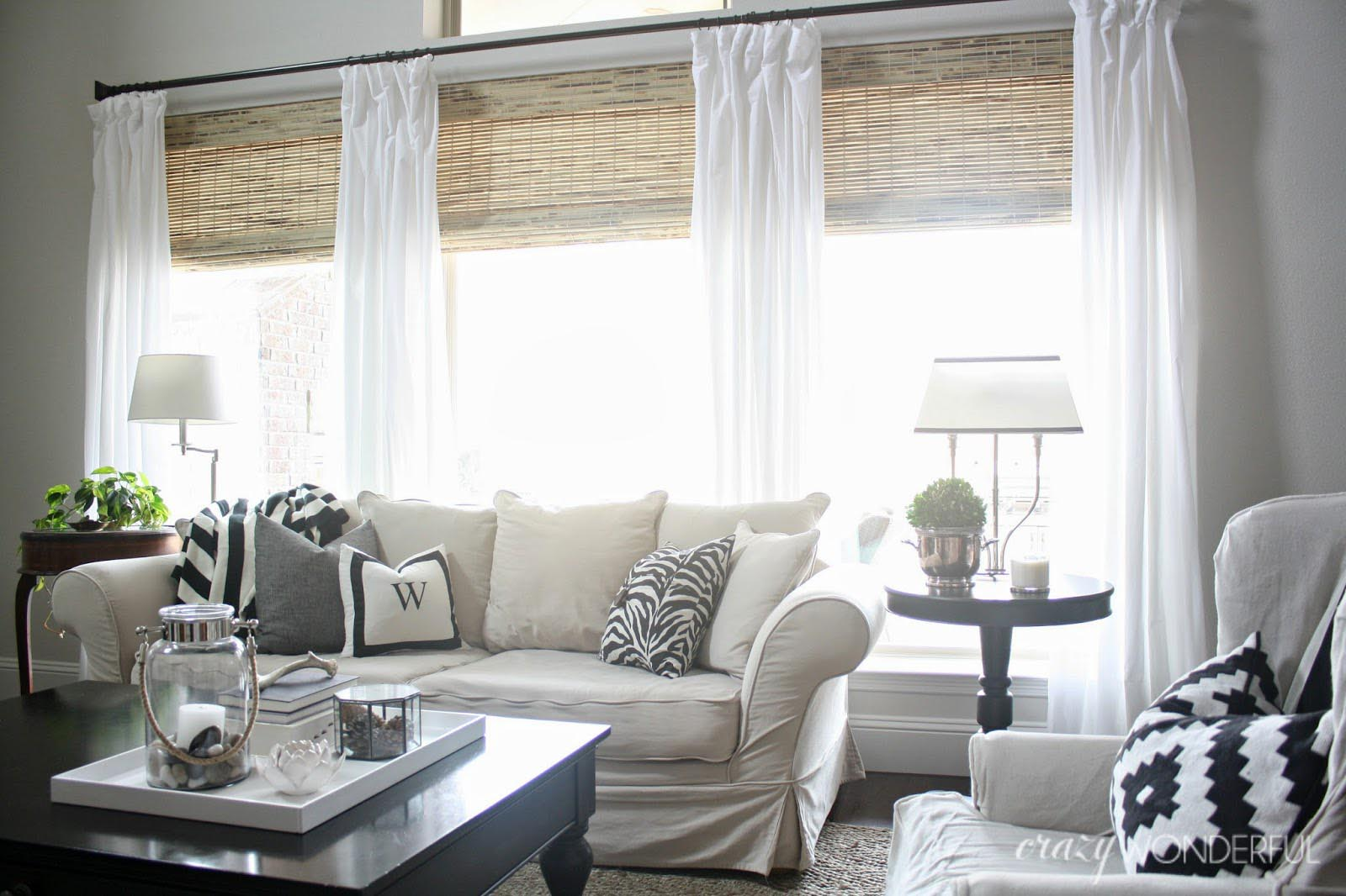 Natural bamboo roman shades window treatments design ideas for Bamboo shades in living room