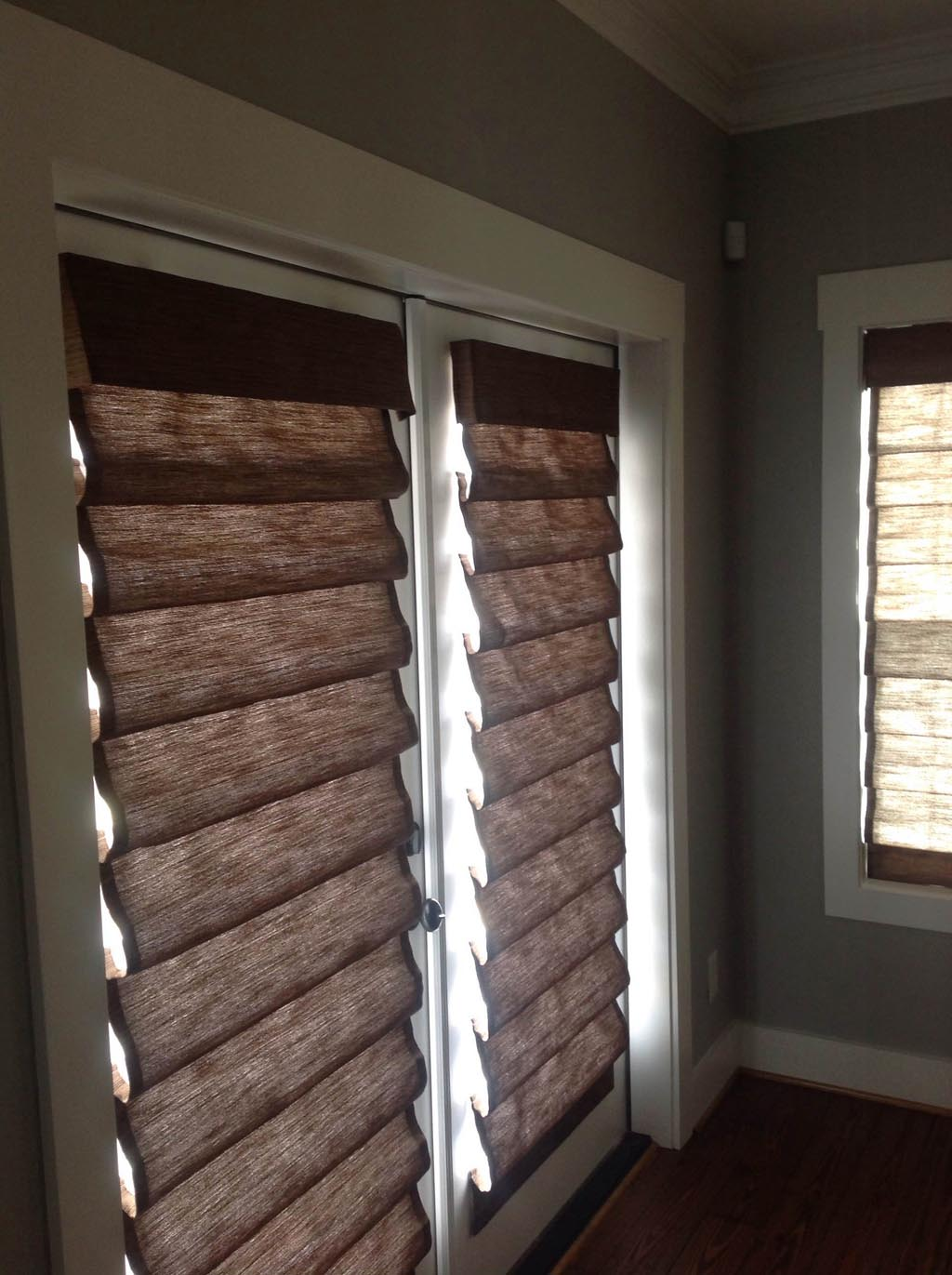 Privacy Liner for Bamboo Roman Shades