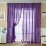 Purple Sheer Scarf Valance