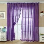 Purple Sheer Scarf Valance