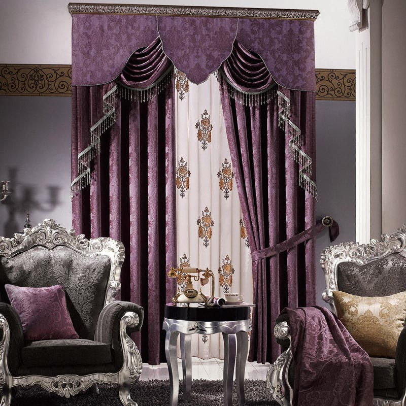 Purple valances for bedroom window treatments design ideas for Bedroom curtains designs in pakistan