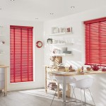 Red Blinds for Kitchen Window
