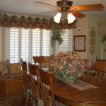 Red French Country Valances