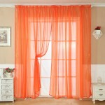 Red Sheer Scarf Valance