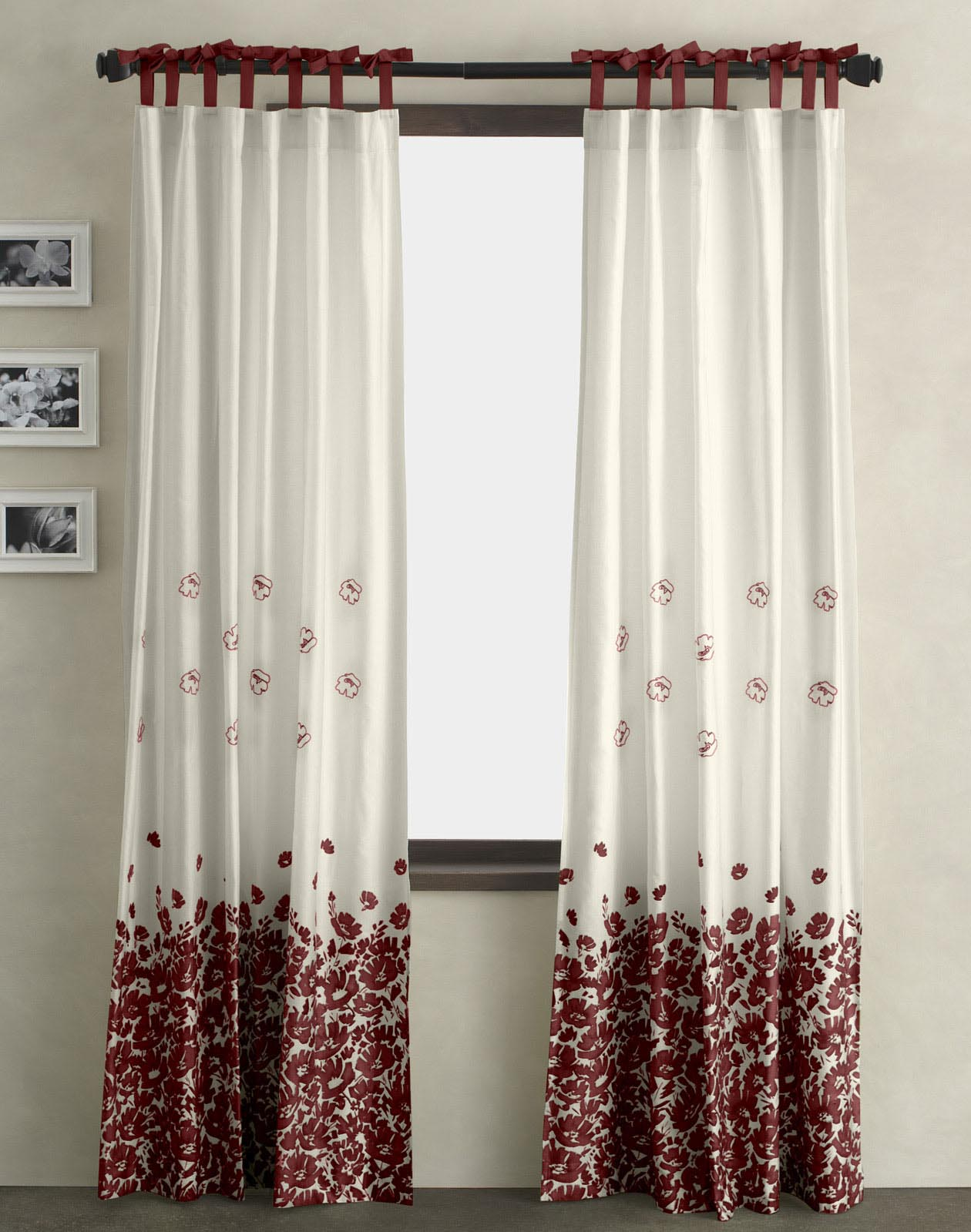Red Valances for Bedroom