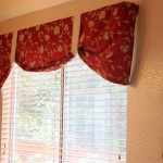 Red Valances for Kitchen Windows