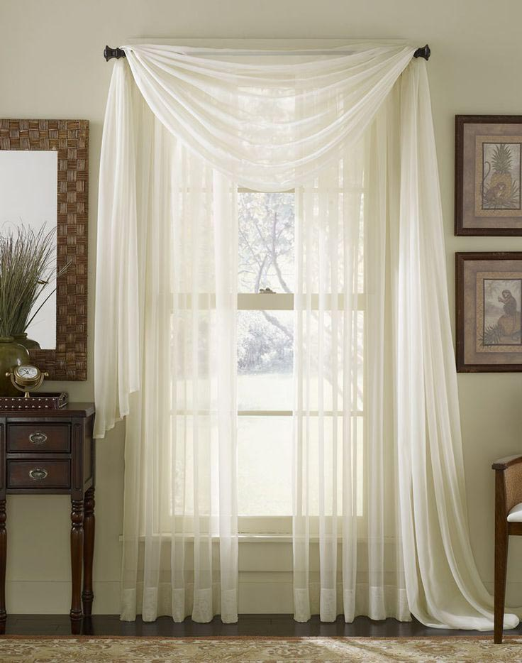 Sheer Scarf Valance Window Treatments