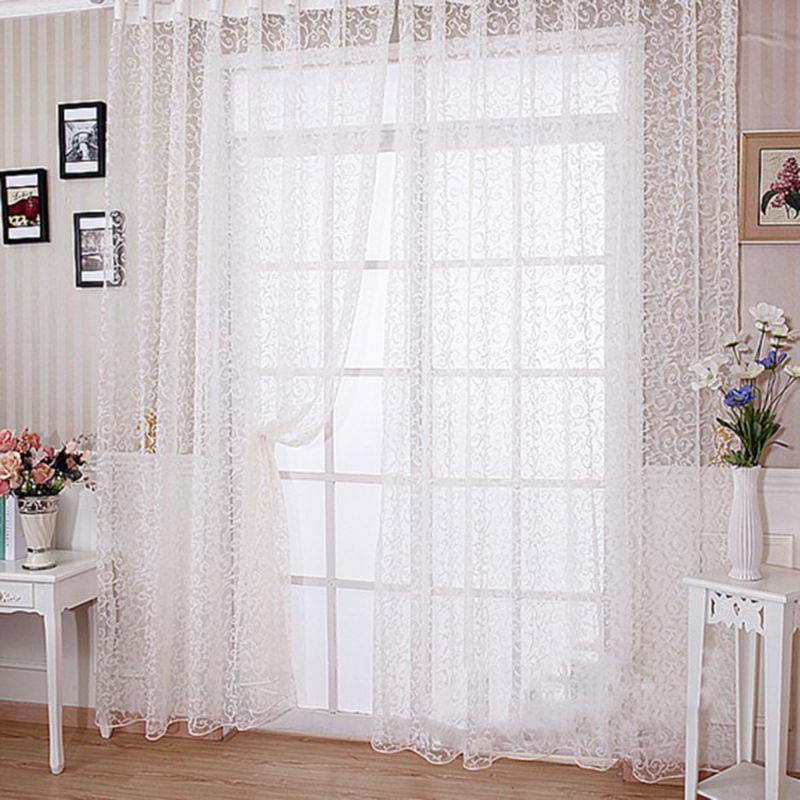 Sheer Scarf Valances for Windows